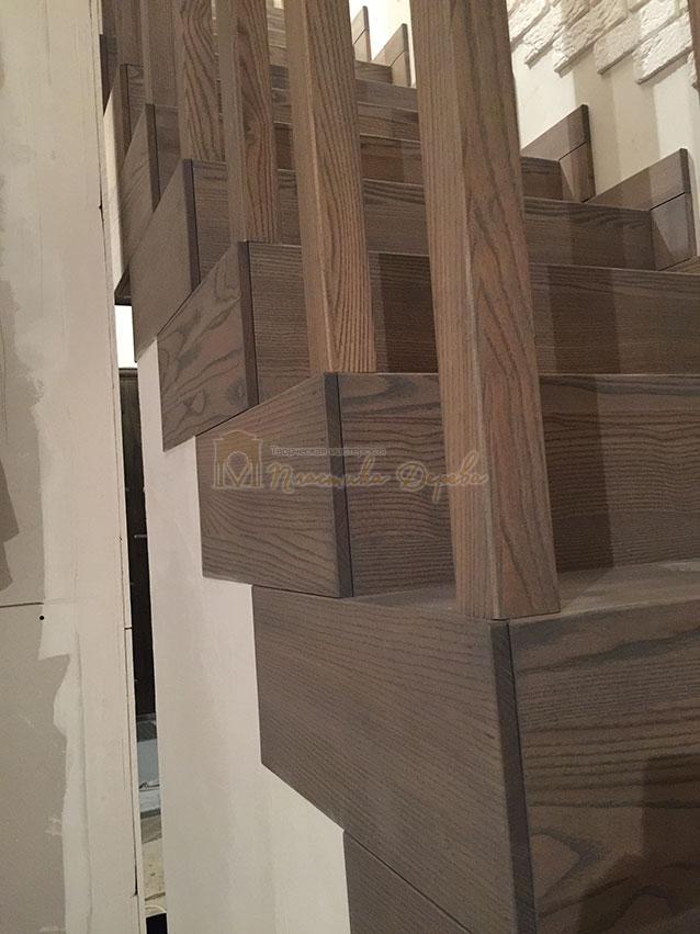 Лестница со ступеньками без свеса (фото 12)