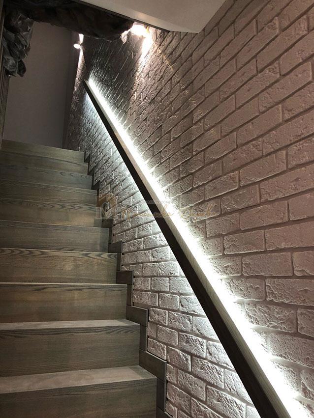 Лестница со ступеньками без свеса (фото 13)