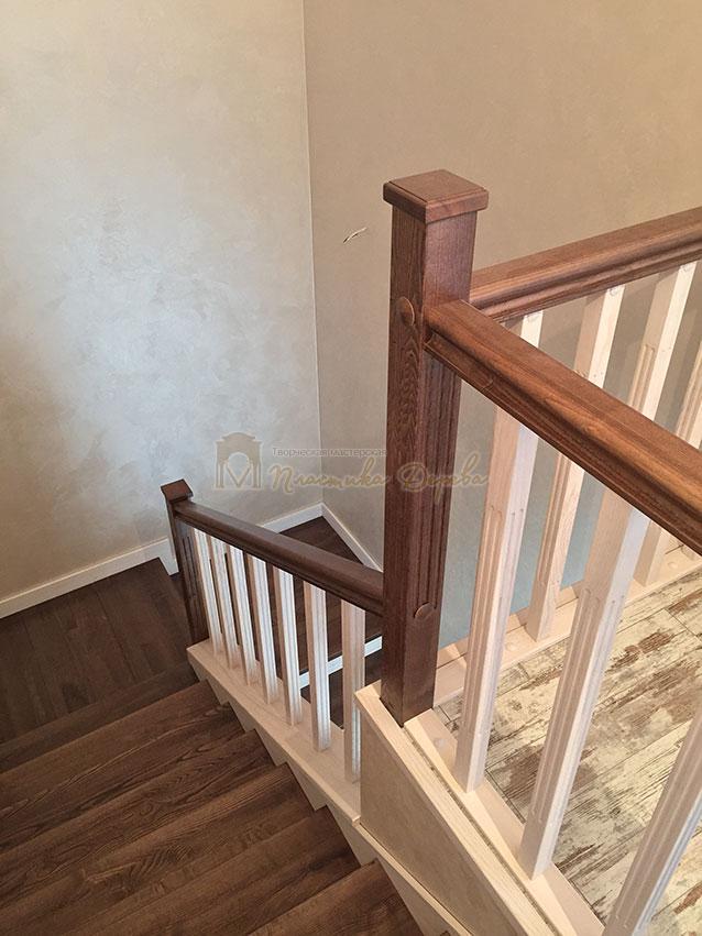 Облицовка лестницы ясенем (фото 1)