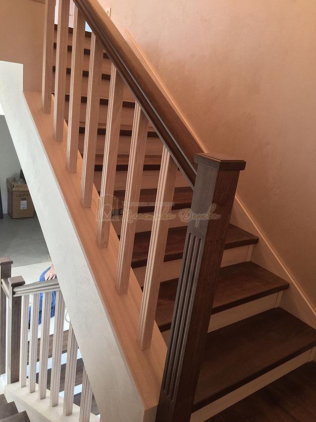 Облицовка лестницы ясенем (фото 3)
