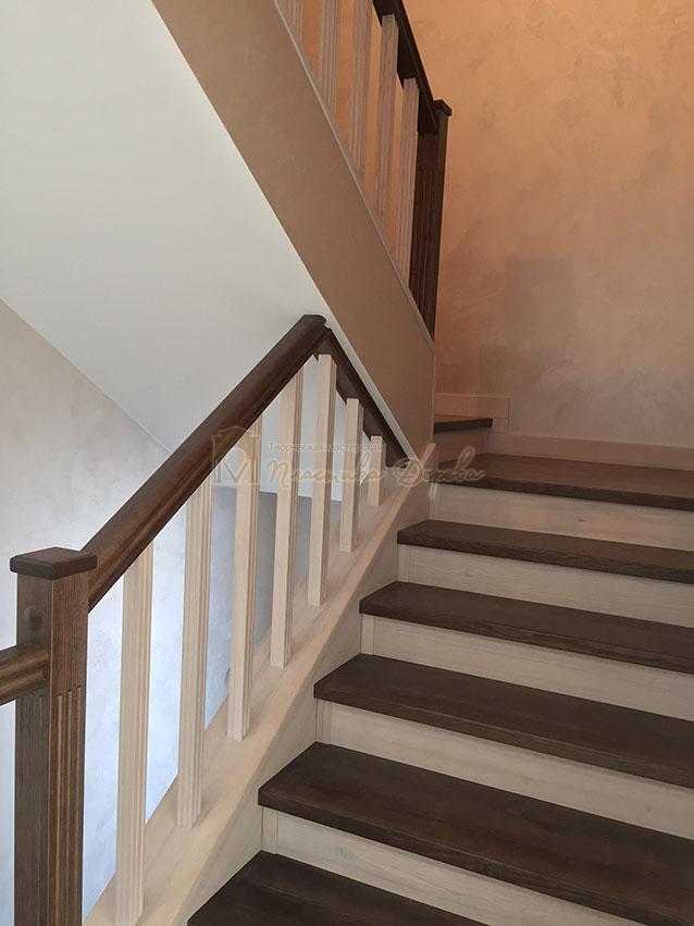 Облицовка лестницы ясенем (фото 4)