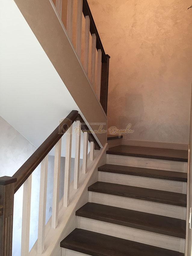 Облицовка лестницы ясенем (фото 5)