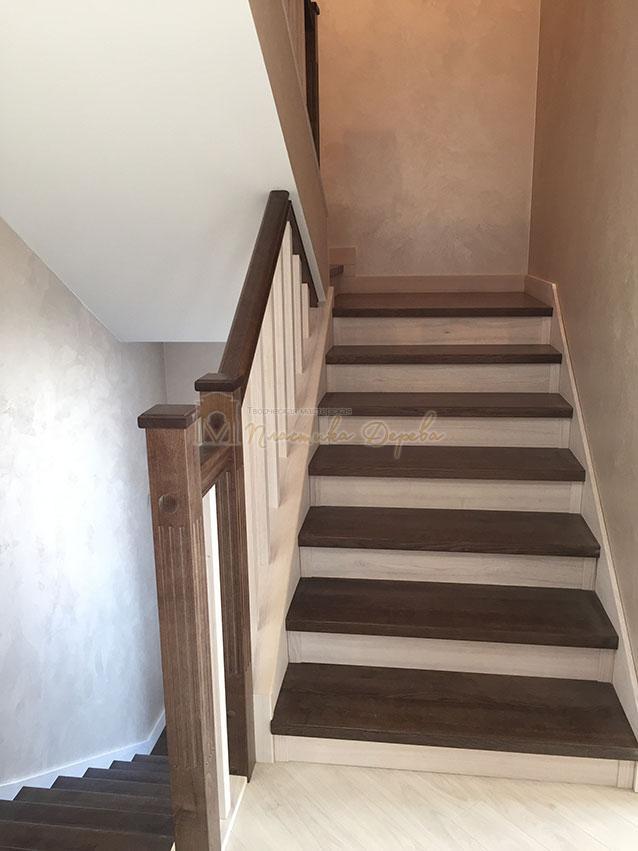 Облицовка лестницы ясенем (фото 6)