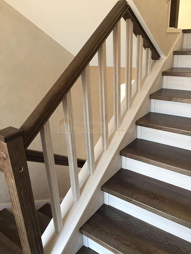 Облицовка лестницы ясенем (фото 10)