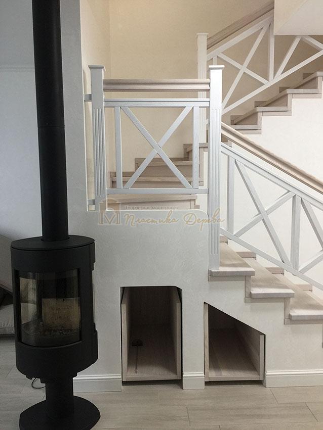 Лестница в стиле прованс (фото 5)