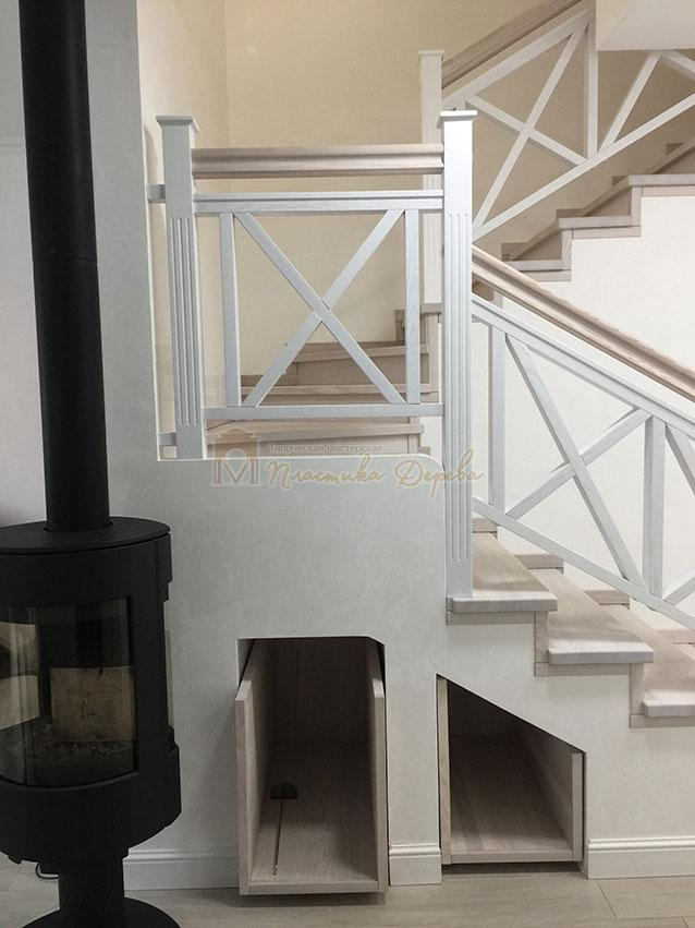 Лестница в стиле прованс (фото 2)