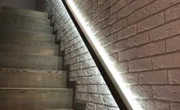 Лестница со ступеньками без свеса (превью)