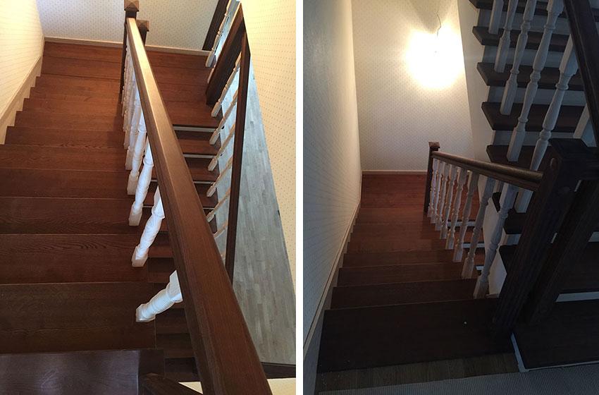 Обшивка бетонной лестницы (фото)