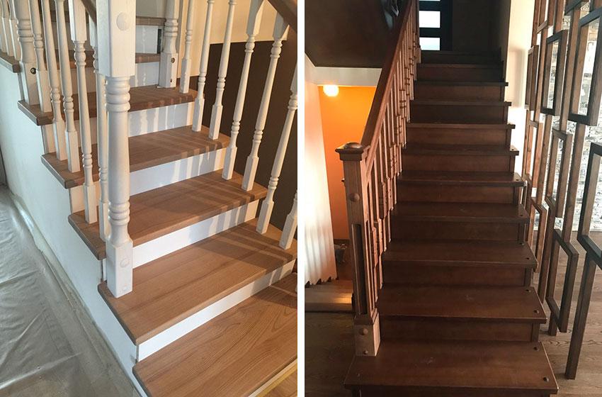 Лестницы из натурального дерева. Фото лестниц