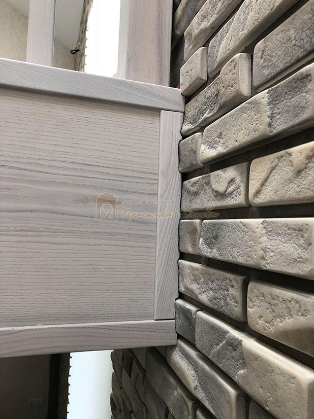 Деревянная лестница без опорного столба (фото 6)