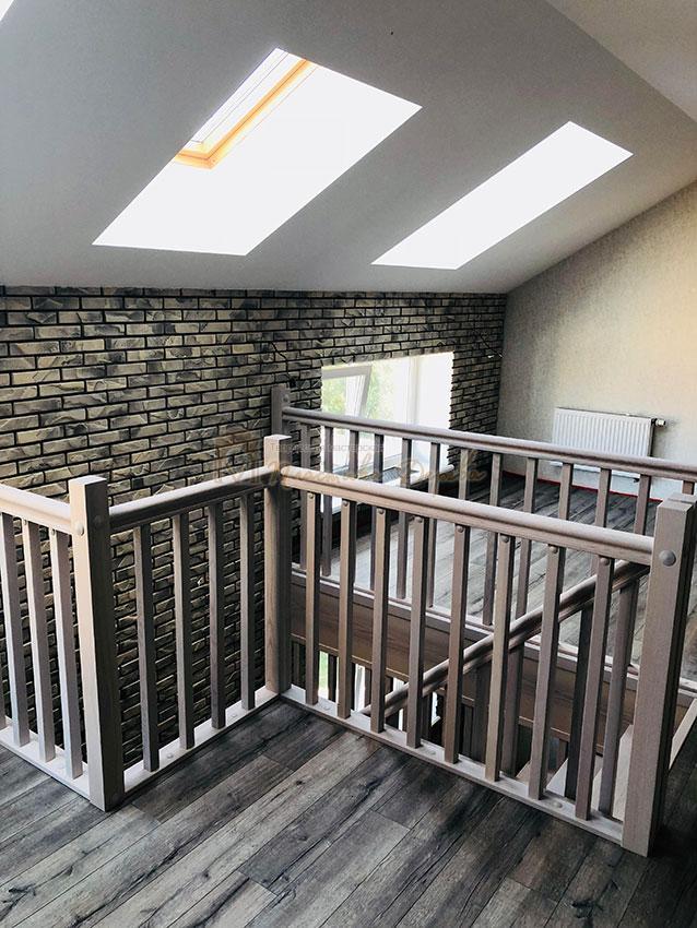 Деревянная лестница без опорного столба (фото 7)