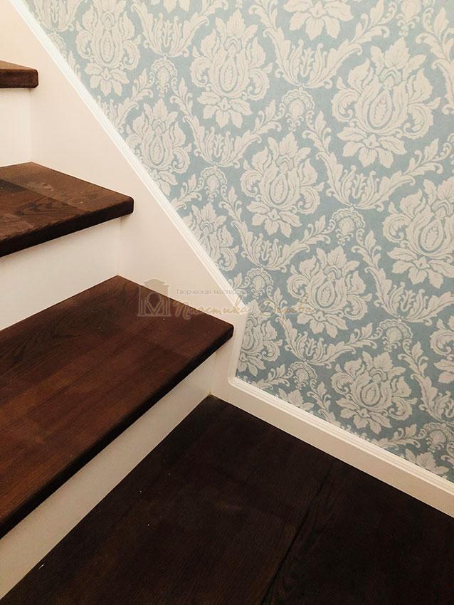 Деревянная лестница с подступеньками из МДФ (фото 2)
