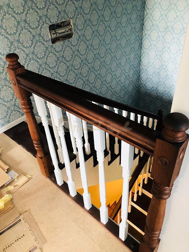 Деревянная лестница с подступеньками из МДФ (фото 5)