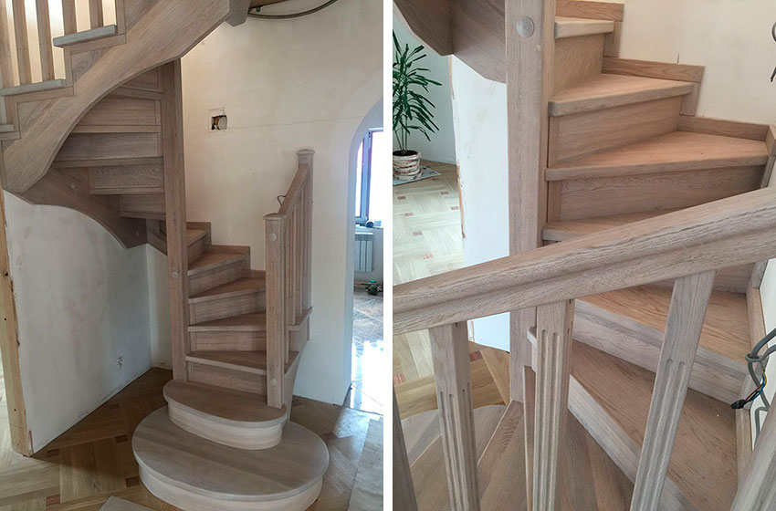 Дубовая лестница (фото)