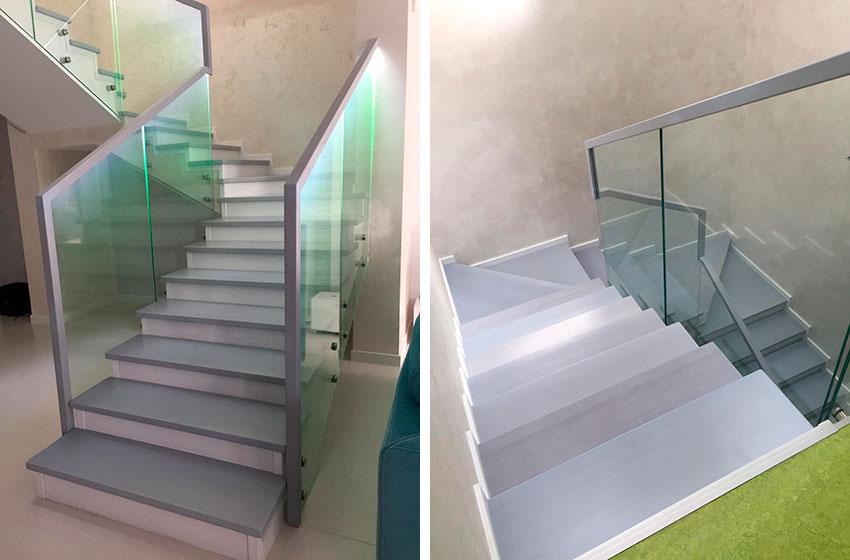 Лестницы со стеклом. Фото лецтницы
