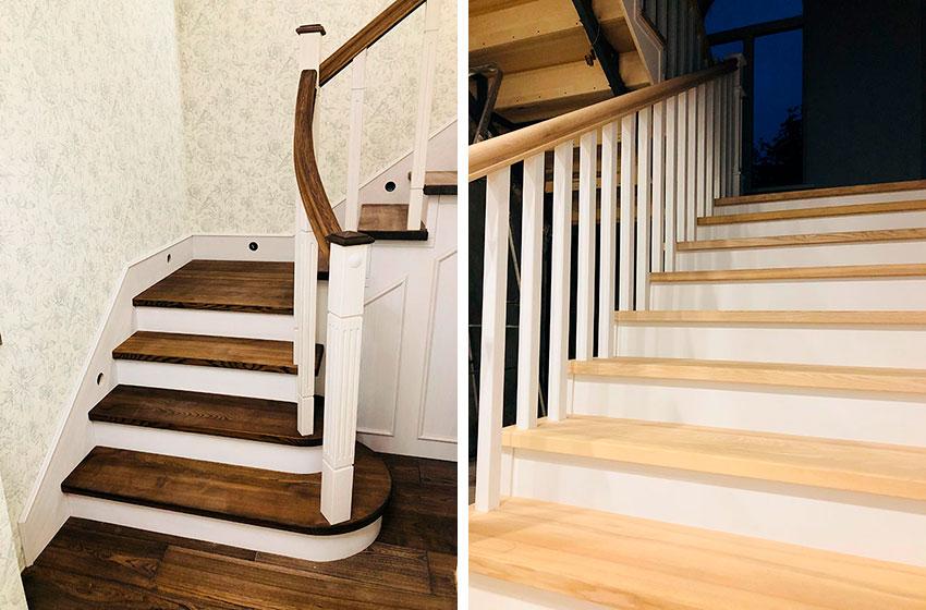 Породы дерева для лестниц. Фото лестниц