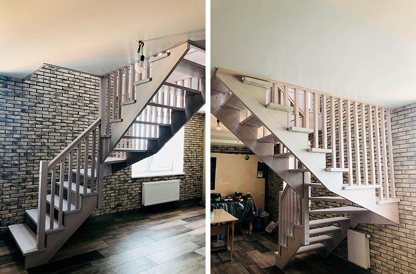 Поворотная лестница (фото)