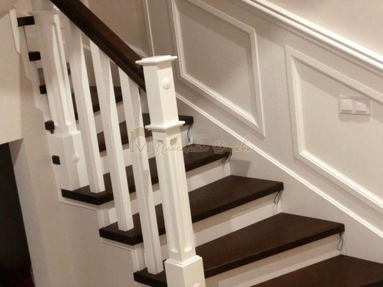Лестница с декоративными панелями (фото 18)