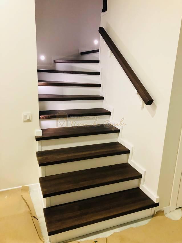 Обшивка бетонной лестницы деревом с. Гореничи (фото 1)
