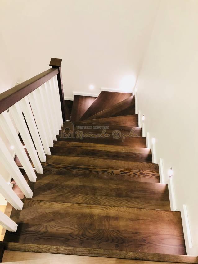 Обшивка бетонной лестницы деревом с. Гореничи (фото 2)