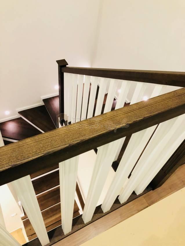 Обшивка бетонной лестницы деревом с. Гореничи (фото 4)