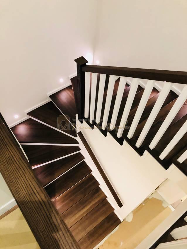 Обшивка бетонной лестницы деревом с. Гореничи (фото 6)