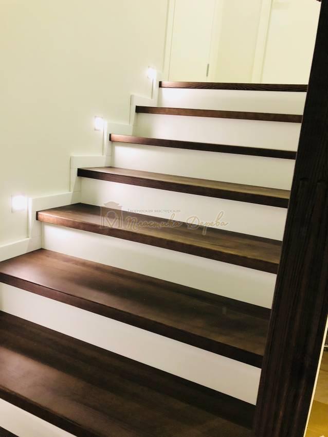 Обшивка бетонной лестницы деревом с. Гореничи (фото 10)