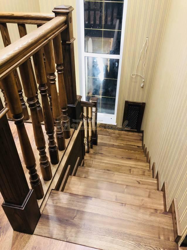 Облицовка бетонной лестницы в Киеве (фото 4)