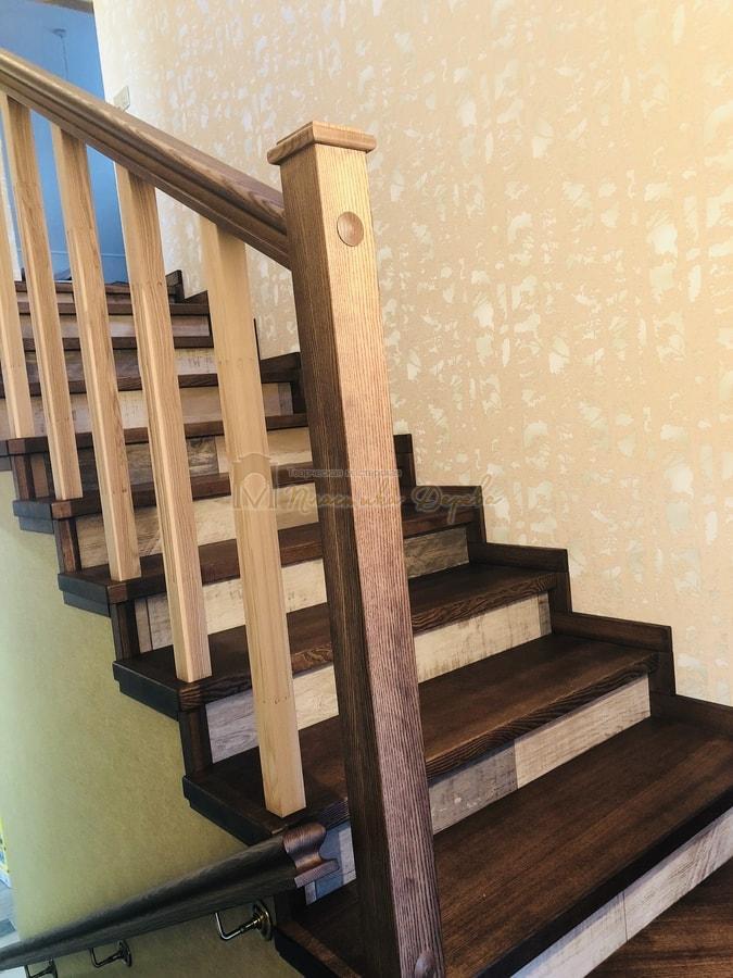 Обшивка бетонной лестницы деревом - Лесники (фото 3)