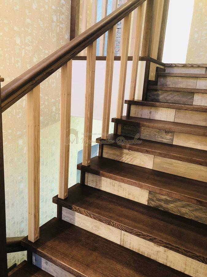 Обшивка бетонной лестницы деревом - Лесники (фото 4)