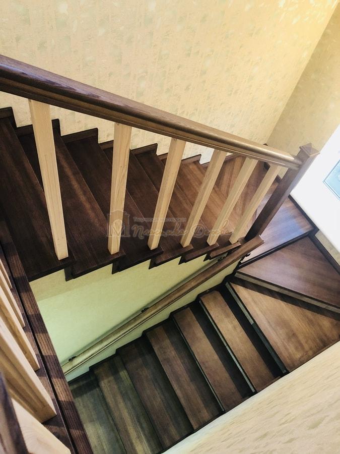 Обшивка бетонной лестницы деревом - Лесники (фото 5)