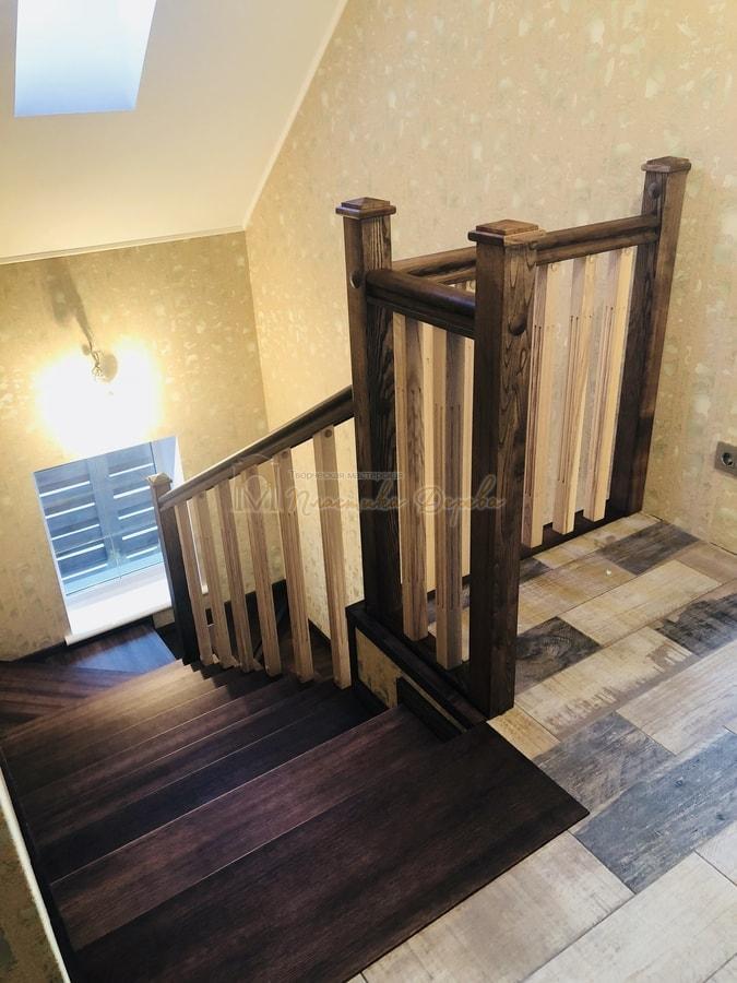 Обшивка бетонной лестницы деревом - Лесники (фото 7)