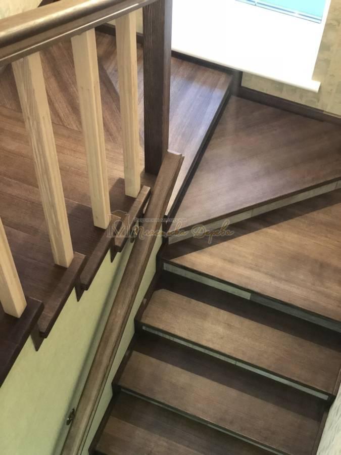Обшивка бетонной лестницы деревом - Лесники (фото 1)
