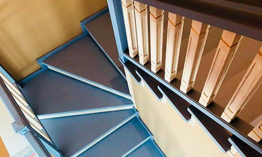 Лестница из ясеня «Близняшки» (фото)