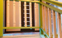 Ясенёвая лестница «Близняшки» (фото)