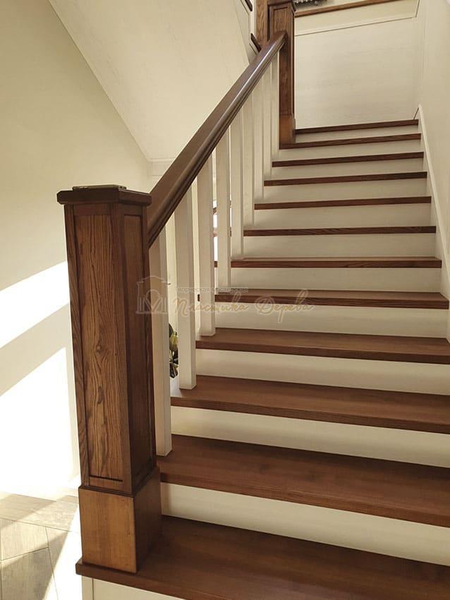 Лестница из дерева «Аннэт» (фото 8)